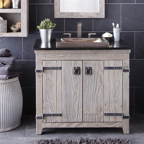 bathroom reclaimed wood bathroom vanity  access  storage jeanettejamescom