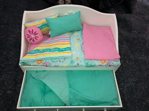 american girl doll dreamy day bed  trundle  bedding