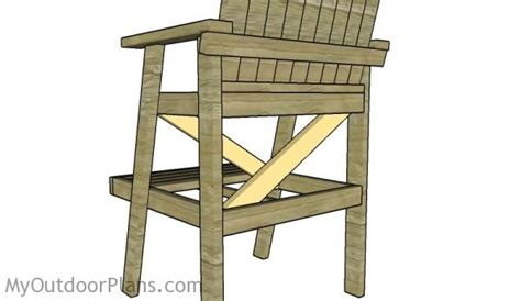 Lifeguard Chair Plans Free by Free Adirondack Lifeguard Chair Plans Image Mag