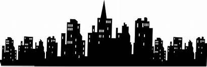Gotham Skyline Batman Silhouette Clipart Stickers Wall