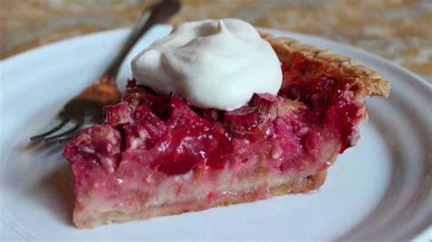 strawberry rhubarb custard pie   strawberry