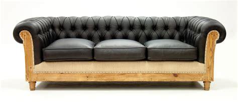 canape chesterfield cuir noir canap 233 chesterfield d 233 structur 233 cuir noir les nouveaux brocanteurs