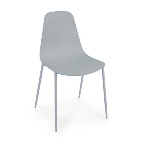 bizzotto sedie bizzotto sedia cleveland in plastica con gambe in ferro