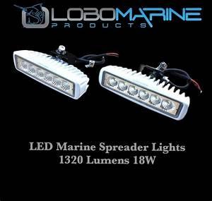 Lobo marine led spreader flood light set w v