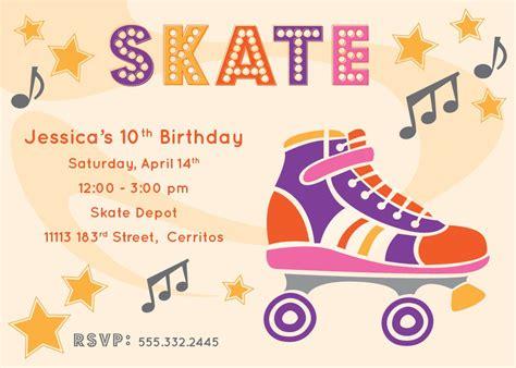 roller skate invitations
