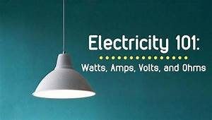 How To Understand Electricity  Watts  Amps  Volts  And