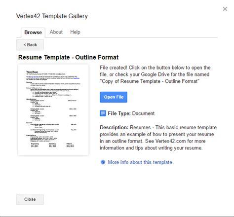 Resume Templates Gogle Chrome