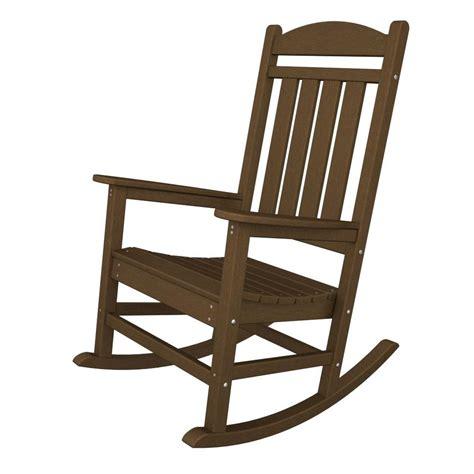 home depot outdoor rocking chair cushions safavieh vernon teak brown outdoor patio rocking chair