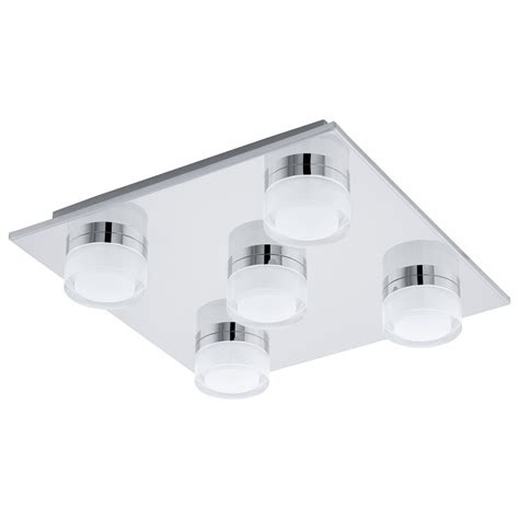 eglo 94654 romendo five led ip44 bathroom ceiling light in