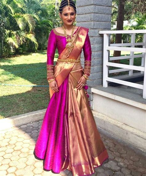 How To Wear A Half Saree Like A Lehenga Saree In 7
