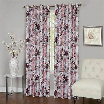 Blackout Grommet Lined Curtains Floral Thermal Window