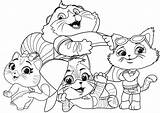 Cats Coloring 44 Youloveit sketch template