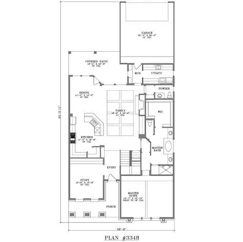 floor plans rear garage two story house plan 3348 web floor plans