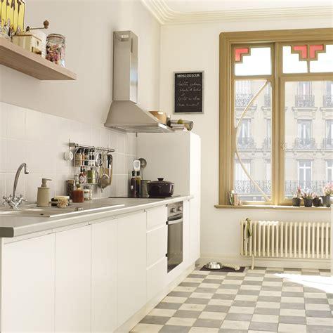 meuble cuisine blanc meuble de cuisine blanc delinia graphic leroy merlin
