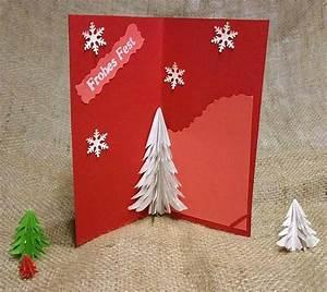 Bastelanleitungen Für Weihnachten : 3d pop up karte mit tannenbaum f r weihnachten selber basteln ~ Frokenaadalensverden.com Haus und Dekorationen