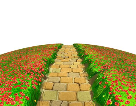 Stone Path With Flowers Ground Png Clipart