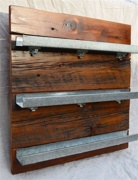 reclaimed wood spice rack spice racks spices  shot glasses display