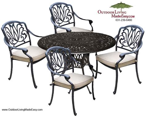 dwl lillian cast aluminum outdoor patio furniture