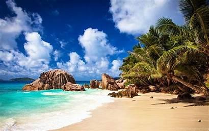Beach Wallpapers Tropical Desktop Seychelles Computer Backgrounds