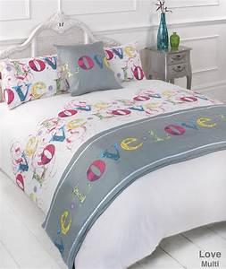 Bettdecke Auf Englisch : liebe stepp bettdecke bettw sche bed in a bag kissenbezug ~ Watch28wear.com Haus und Dekorationen