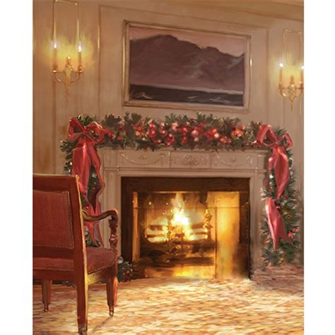 Backdrop With Fireplace by Fireplace Printed Backdrop Backdrop Express