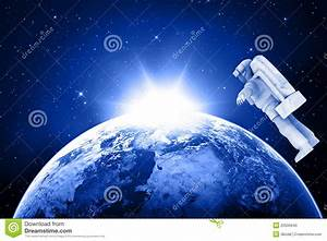 Blue Planet Earth And Astronaut Stock Photo - Image: 20500640