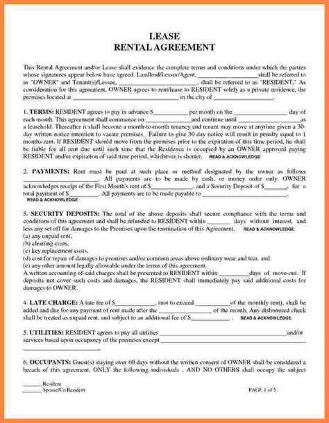 lease a 9 online lease agreement for renting a house purchase