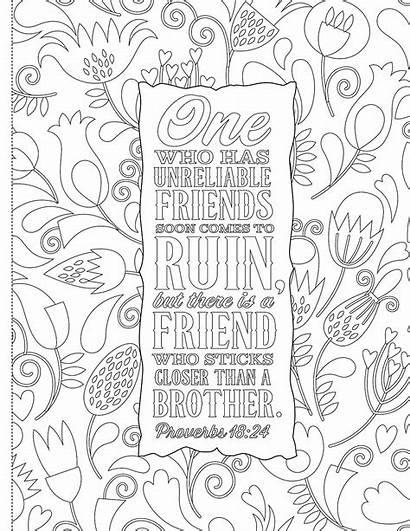 Coloring Bible Pages Verses Christian Adults Words