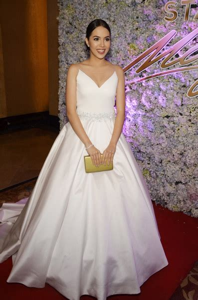 julia montes star magic ball 2018 in photos celebs in elegant white at star magic ball
