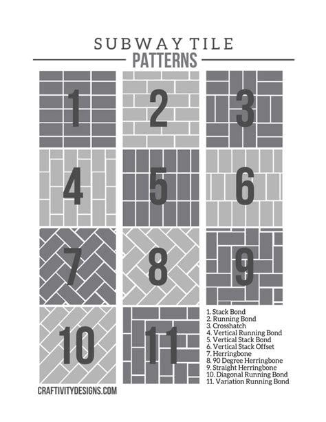 subway tile ideas  tile pattern template page
