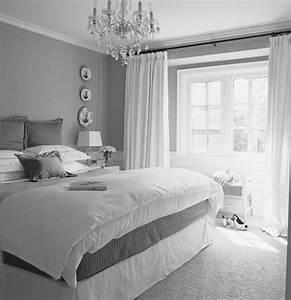 Gray, Silver, White, Bedroom