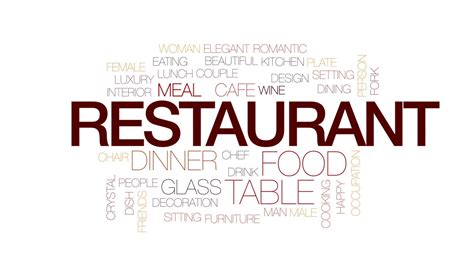 restaurant animated word cloud text design animation kinetic typography motion background
