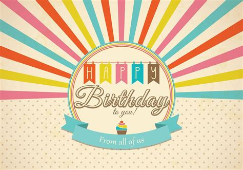 retro happy birthday card psd  photoshop brushes