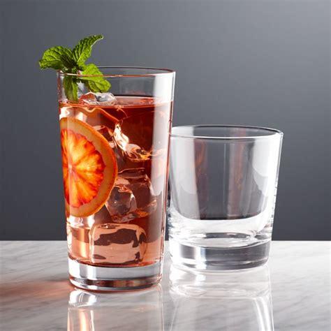dylan  fashioned drink glasses crate  barrel