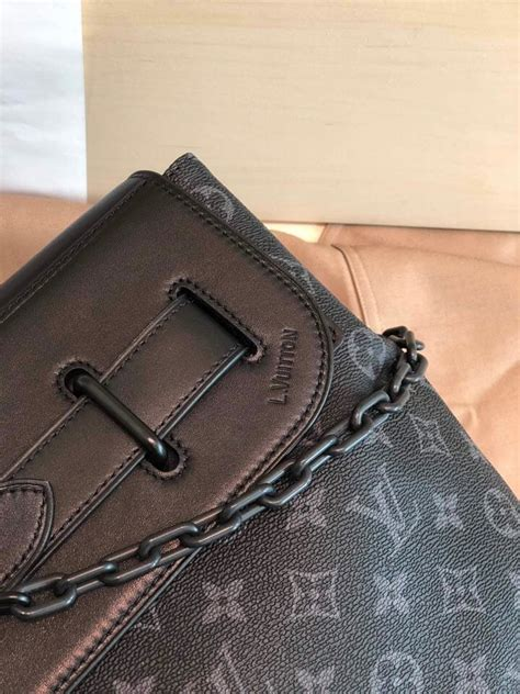 top replica louis vuitton  men steamer pm monogram eclipse coated canvas