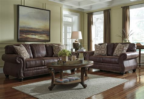 livingroom furniture breville espresso brown traditional living room set w