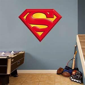 Superman logo fathead wall decal for Superman wall decal