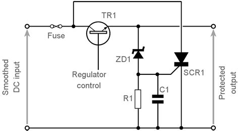 Scr Thyristor Crowbar Overvoltage Protection Circuit