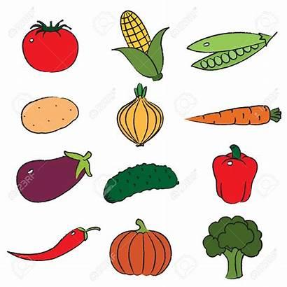 Vegetables Vegetable Clipart Clip Fruit Cartoon Garden