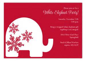 stevie streck invitations white elephant invitation christmas invitations