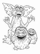 Gremlins Coloring Monster sketch template