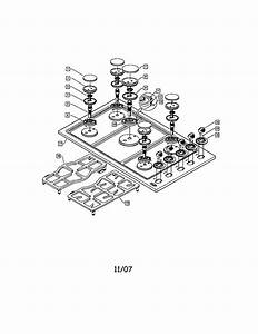 Dcs Dynamic Cooking Systems  Gas Cooktop Parts