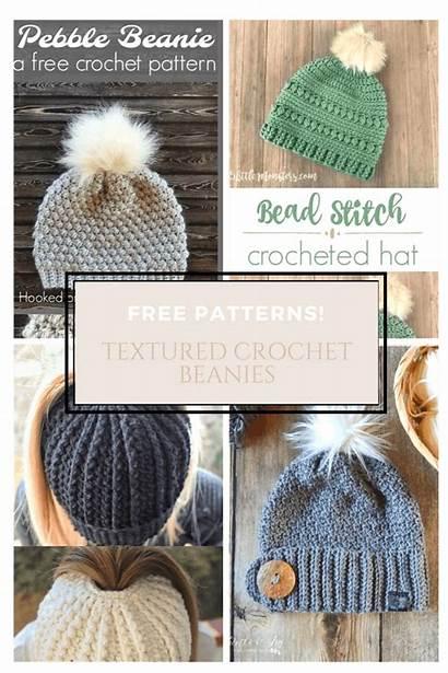 Crochet Beanies Textured Pattern Beanie Round Knit