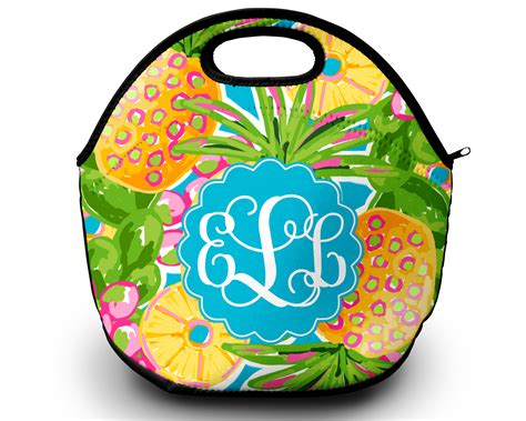 monogram lunch bag pineapple paradise sassy southern gals