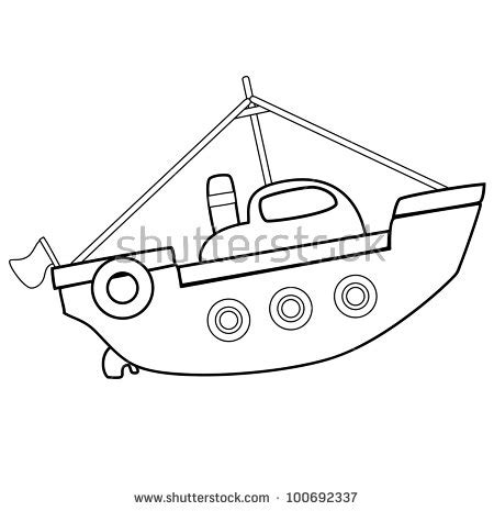 Toy Boat Outline by Stock Images Similar To Id 170863745 Set Of Children S