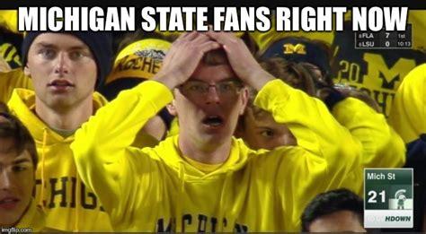 Michigan Fan Meme - stunned michigan fan imgflip