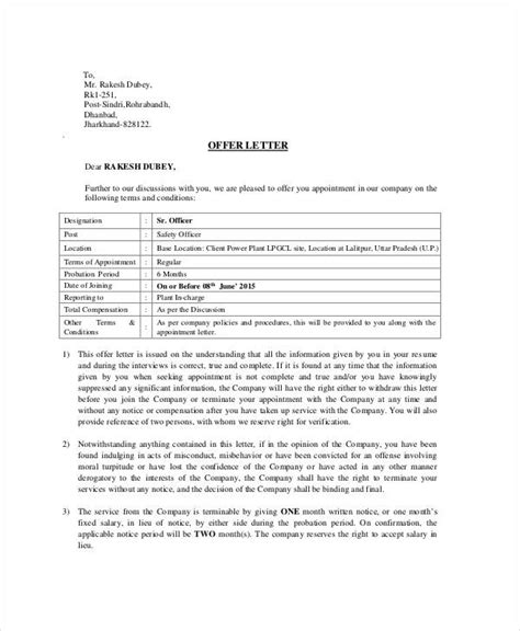 appointment letter template   word  documents