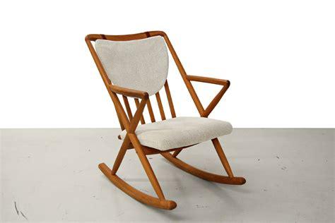 mid century teak rocking chair frank reenskaug