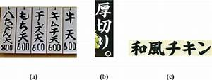 Menu And Signs From A Japanese Restaurant As The Examples