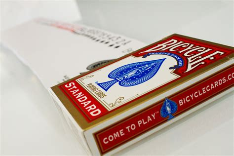 Red Standard Bicycle Deck  The Magic Shop